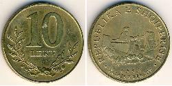 10 Lek Albania Brass