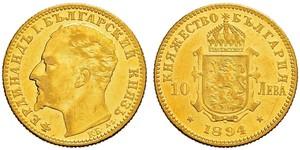 10 Lev Bulgaria Gold Ferdinand I of Bulgaria (1861 -1948)