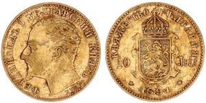 10 Lev Bulgaria Oro Ferdinando I di Bulgaria (1861 -1948)