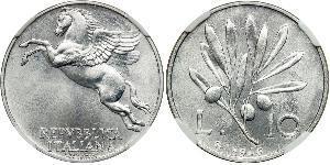10 Lira Italia Aluminio