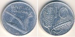 10 Lira Italian Republic (1946 - ) Aluminium