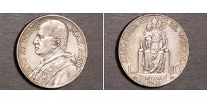 10 Lira Vatican (1926-) Argent Pope Pius XI (1857 - 1939)
