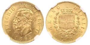10 Lira Kingdom of Italy (1861-1946) Or Victor Emmanuel II of Italy (1820 - 1878)