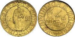 10 Lira San Marino Oro