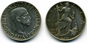 10 Lira Kingdom of Italy (1861-1946) Plata Vittorio Emanuele III (1869 - 1947)