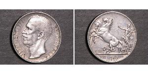 10 Lira Kingdom of Italy (1861-1946) Plata Víctor Manuel III de Italia (1869 - 1947)