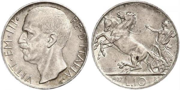 10 Lira Kingdom of Italy (1861-1946) Silber Viktor Emanuel III. (Italien) (1869 - 1947)