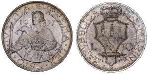 10 Lira San Marino Silber