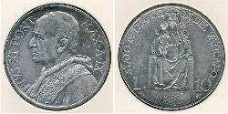 10 Lira Vatikan (1926-) Silber Pope Pius XI (1857 - 1939)