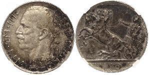 10 Lira Kingdom of Italy (1861-1946) Silver Victor Emmanuel III of Italy (1869 - 1947)