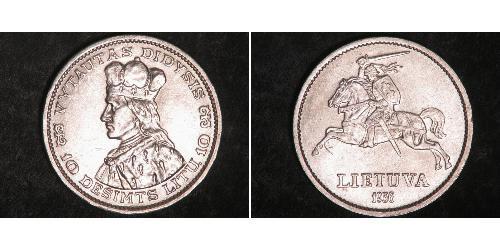 10 Litas 立陶宛 銀