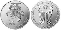 10 Litas Lithuania (1991 - ) Copper/Nickel