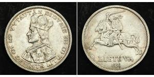10 Litas Lithuania (1991 - ) Silver Vytautas(1350 - 1430)