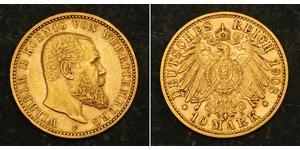 10 Mark 德意志帝國 (1871 - 1918) 金 威廉二世 (德国)