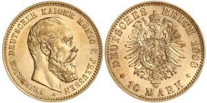 10 Mark 普魯士王國 (1701 - 1918) 金 腓特烈·威廉三世 (1770 -1840)