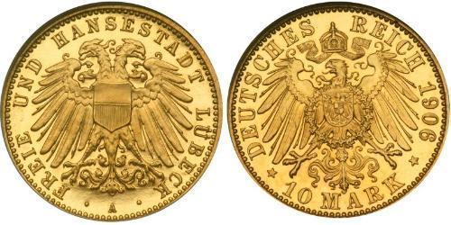 10 Mark Free City of Lübeck 金