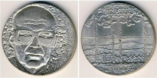 10 Mark 芬兰 銀 乌尔霍·卡勒瓦·吉科宁