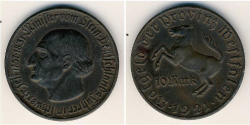 10 Mark 德国 青铜