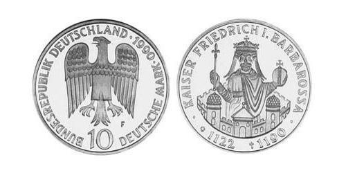 10 Mark Allemagne (1990 - ) Argent