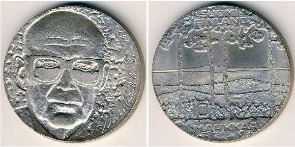 10 Mark Finlandia (1917 - ) Argento Urho Kekkonen