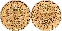 10 Mark Bremen (state) Gold