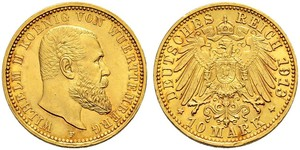 10 Mark Deutsches Kaiserreich (1871-1918) Gold Wilhelm II, German Emperor (1859-1941)