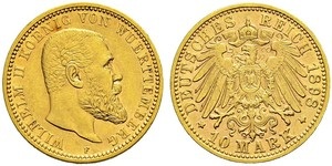 10 Mark German Empire (1871-1918) Gold Wilhelm II, German Emperor (1859-1941)