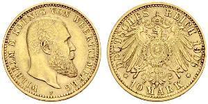 10 Mark German Empire (1871-1918) Gold Wilhelm II, German Emperor (1859-1941)