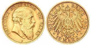 10 Mark Grand Duchy of Baden (1806-1918) Gold Friedrich I. (Baden, Großherzog) (1826 - 1907)