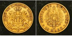 10 Mark Hamburg Gold