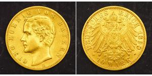 10 Mark Königreich Bayern (1806 - 1918) Gold Otto (Bayern)(1848 – 1916)
