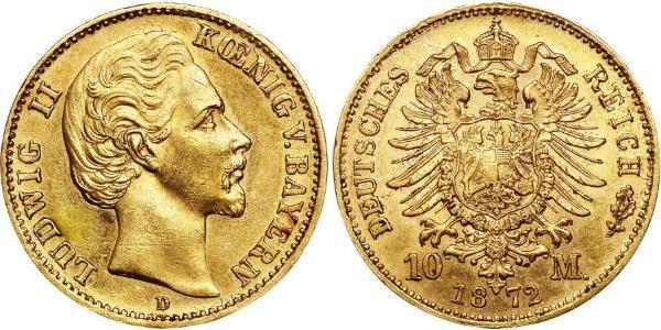 10 Mark Königreich Bayern (1806 - 1918) Gold Ludwig I. (Bayern)(1786 – 1868)
