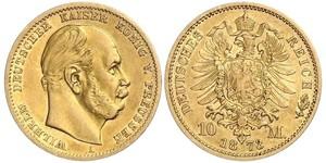 10 Mark Königreich Preußen (1701-1918) Gold Wilhelm I, German Emperor (1797-1888)