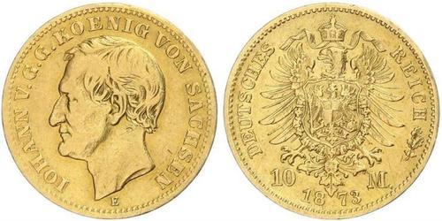 10 Mark Königreich Sachsen (1806 - 1918) Gold