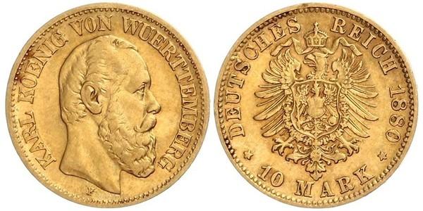 10 Mark Königreich Württemberg (1806-1918) Gold Karl (Württemberg)