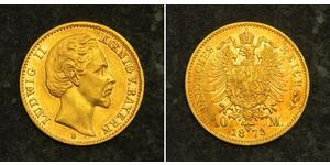 10 Mark Kingdom of Bavaria (1806 - 1918) Gold Ludwig I of Bavaria (1786 – 1868)