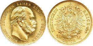 10 Mark Kingdom of Prussia (1701-1918) Gold Wilhelm I, German Emperor (1797-1888)