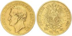 10 Mark Kingdom of Saxony (1806 - 1918) Gold