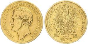 10 Mark Kingdom of Saxony (1806 - 1918) Gold