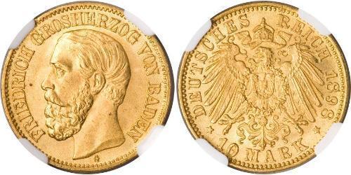 10 Mark Grand-duché de Bade (1806-1918) Or