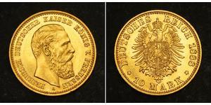 10 Mark Royaume de Prusse (1701-1918) Or Frédéric-Guillaume III de Prusse (1770 -1840)