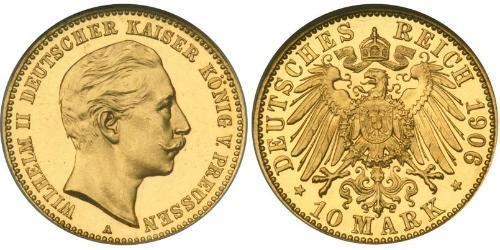 10 Mark Royaume de Prusse (1701-1918) Or Wilhelm II, German Emperor (1859-1941)