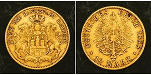 10 Mark Amburgo Oro