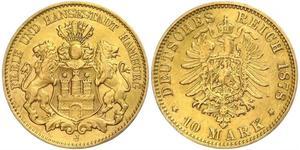 10 Mark Hamburgo Oro