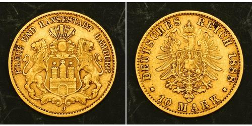 10 Mark Hamburgo Oro