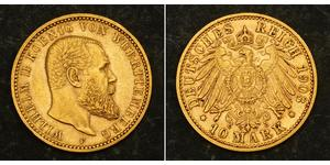 10 Mark Impero tedesco (1871-1918) Oro Wilhelm II, German Emperor (1859-1941)