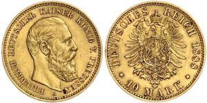 10 Mark Regno di Prussia (1701-1918) Oro Federico Guglielmo III di Prussia  (1770 -1840)