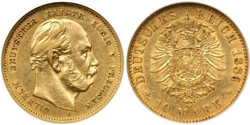 10 Mark Regno di Prussia (1701-1918) Oro Wilhelm I, German Emperor (1797-1888)