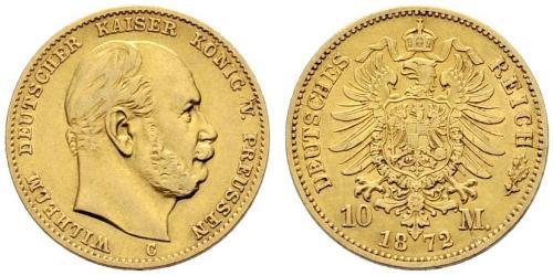 10 Mark Reino de Prusia (1701-1918) Oro Wilhelm I, German Emperor (1797-1888)