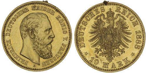 10 Mark Reino de Prusia (1701-1918) Oro Federico Guillermo III de Prusia (1770 -1840)